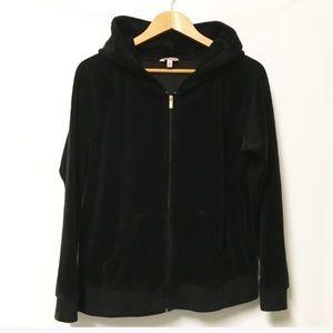 Juicy Couture Black Velour track jacket XL